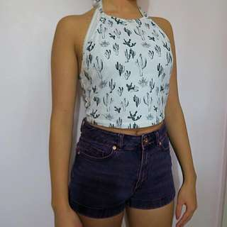 Forever 21 Cactus Halter Top