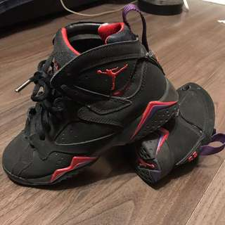 Air Jordan VII Black/True Red-Dark Charcoal-Club Purple