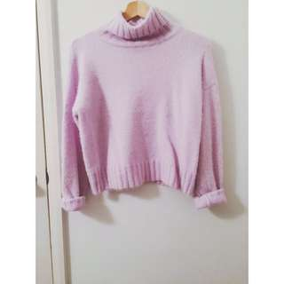 Baby Purple Fluffy Sweater