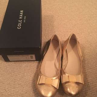 Cole Haan Rose Gold Flat Size 8