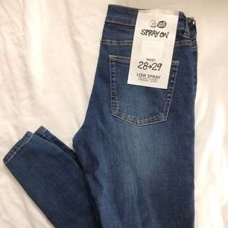 BNWT Cheap Monday Juicy Low Spray Jeans
