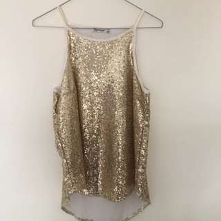 Paper Scissors Sequined Top