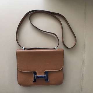 Leather bag inspired by Hermes Constance $150 OBO