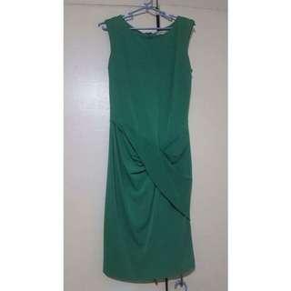 Mango Green Dress Size Small