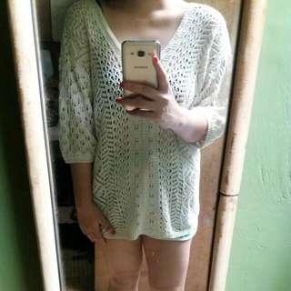 Crochet Long Blouse/cover Up Blouse