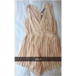 Pleated Playsuit