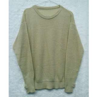 NEW Creme Roundhand Sweater