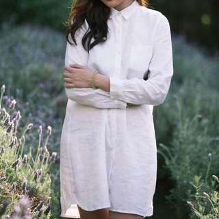 MUJI Linen Shirt Dress