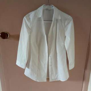 REDUCED White Shirt Button Up
