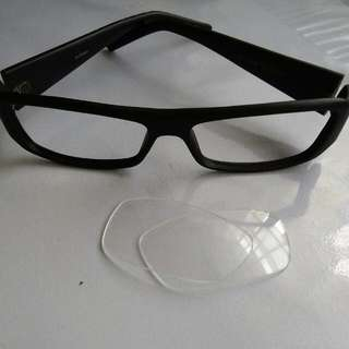 Accessories Black Spectacles (Detachable Lens)