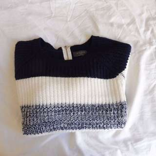 Navy & Cream Jumper