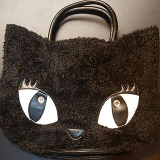 Japan Fluffy Cat Tote Bag - Rare Kawaii
