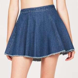 Don't Ask Amanda Frayed Denim Skirt