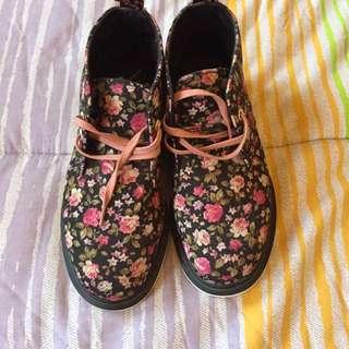 Dr. Martens Pink Floral Shoes