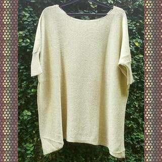 Atasan Knit Gold
