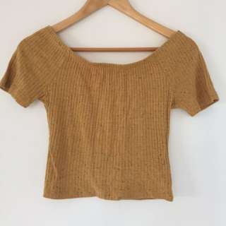Sportsgirl Off The Shoulder Crop Top