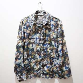 Pull and Bear Floral Shirt