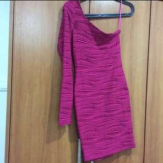 Miss Selfridge Pink Bandage Dress