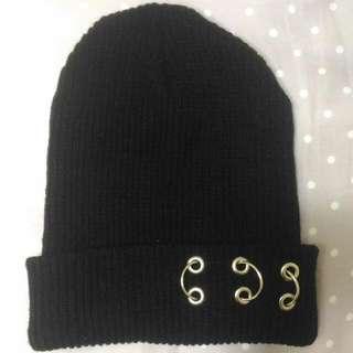 圓圈 圓環 圈圈 鐵環 黑 毛帽 帽 帽子 GD 權志龍 素色 素面  #轉轉來交換