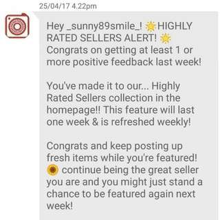 Highly Rated Seller 😄