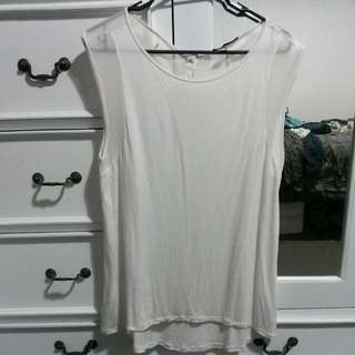 Cream Top With Shear Back