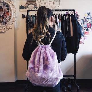 maryjanenite 毛茸茸抽繩背包 ✖️ Furry Backpack
