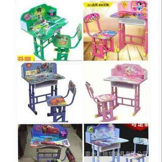 Cartoon Character Study Table & Chair