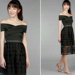 The Velvet Dolls - Make The Cut Crochet Dress in Black (M)
