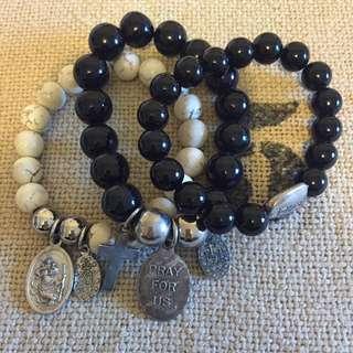 Set Of 3 Angel Bracelet