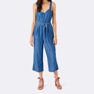 Forever New Denim Jumpsuit - Size 8