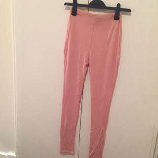 Naked Wardrobe Pink Leggings Small New