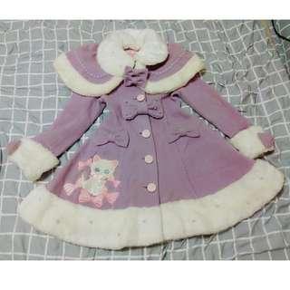 正品 Angelic pretty 紫色貓咪蘿莉塔大衣
