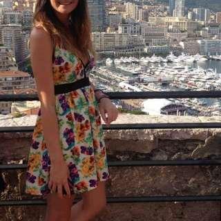 Colourful summer dress