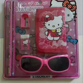 HELLO KITTY, SPIDERMAN & others Stationery & Sunglass Set Great For Birthday Party Goodie Bags Suitable For Personal Use