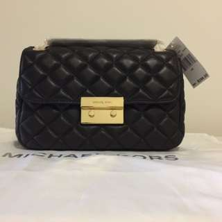 NWT Authentic Michael Kors Sloan Large Quilted-Leather Shoulder Bag
