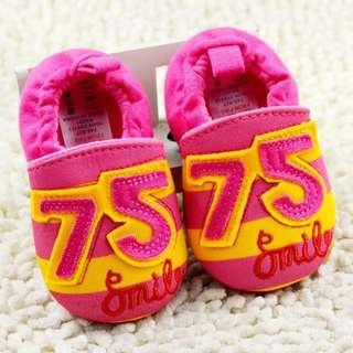 小市民倉庫~75粉色不掉鞋-學步鞋-寶寶鞋-嬰兒鞋-幼兒鞋-室內鞋-布底鞋-坐螃蟹車穿-彌月送禮-特價1雙150元