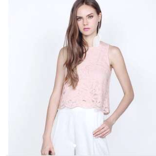 Fayth Hayley Lace Top XS