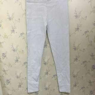 95%new白色鉛筆褲窄腳褲