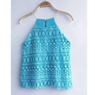 Pastel Halter Cami String Top