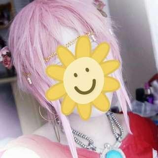 Short Pink Wig