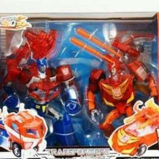 Transformers Takara Sons of Cybertron Optimus Prime and Rodimus And UNITED RODIMUS PRIME