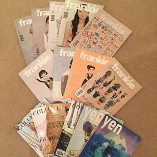 Fashion Magazines: Frankie, Yen, The Collective