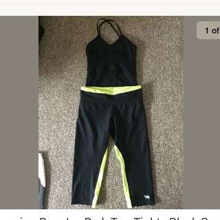 Running Bare Ivy Park Tights Top Small