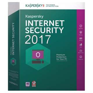 Kaspersky Internet Security 2018 1 year 1 PC / 3 PCs
