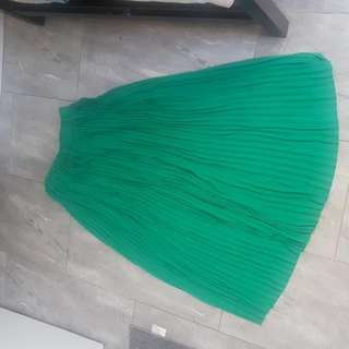 Green Ankle Length Skirt