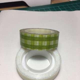 綠格子 紙膠帶