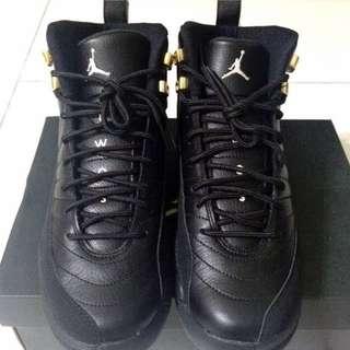 Nike Air Jordan 12 黑金 7Y