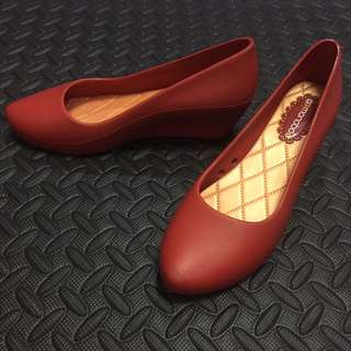 Red Wedge Shoes (Plastic)