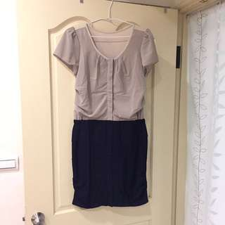 連身短窄裙