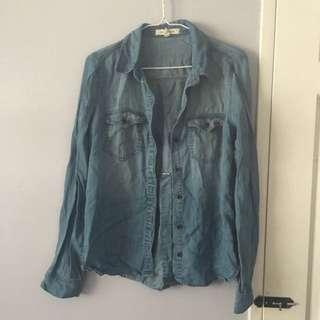 Light Wash Denim Soft Chambray Shirt